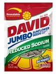Conagra David Reduced Sodium Sunflower Seeds In Shell - 5.25 Oz.