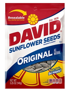 Conagra David Original Sunflower Seeds In Shell - 5.25 Oz.