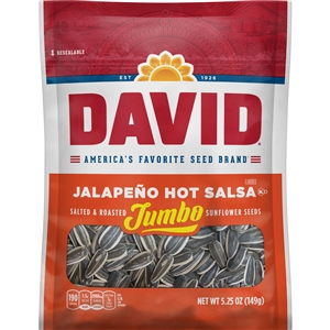 Conagra David Jalapeno Hot Salsa Sunflower Seeds In Shell - 5.25 Oz.