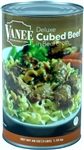 Vanee Foods Cubed Beef In Broth - 48 Oz.