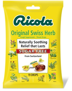 Ricola Sugar Free Mountain Herb Cough Drop Bags