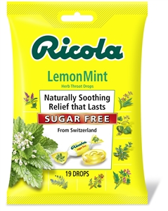 Ricola Sugar Free Lemon Mint Cough Drop Bags
