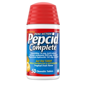 Pepcid Complete Chews Tropical Fruit 50 Count