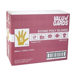 ValuGards Poly Clear Disposable Gloves Small