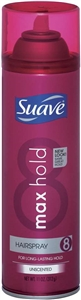 Unilever Best Foods Suave Max Hold Unscented Aerosol Hair Spray - 11 oz.