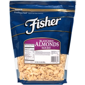 John B. Sanfilippo and Son Fisher Blanched Sliced Almond Nut - 2 Lb.