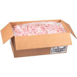 John B. Sanfilippo and Son Peppermint White Center Candy - 25 Lb.