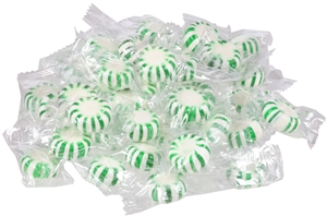 Spearmint White Center Candy - 5 Lb.