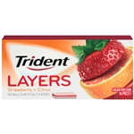 Cadbury Adams Trident Layers Wild Strawberry Tangy Citrus Gum