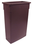 Continental Wall Hugger Container With Waste Basket Brown - 23 Gal.
