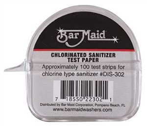 Bar Maid Sani-maid Chlorinated Sanitizer Test Strips