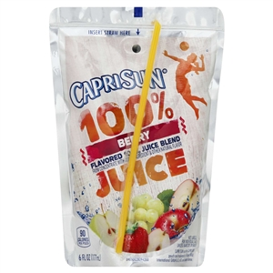Kraft Nabisco Capri Sun Berry Breeze Beverage - 6 Oz.