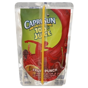 Kraft Nabisco Capri Sun Fruit Dive Beverage - 6 Oz.