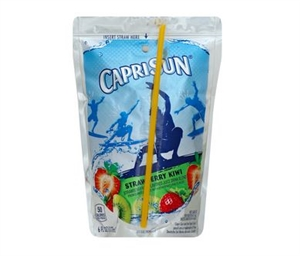 Kraft Nabisco Capri Sun Kiwi Strawberry Beverage - 6 Oz.