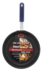 Winco Aluminum Excalibur With Red Silicone Sleeve Non Stick Fry Pan - 12 in.