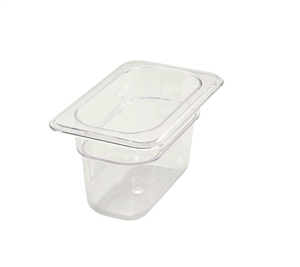 Winco Poly Pan One Ninth Size - 4 in.