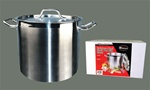Winco Stainless Steel Stock Pot 24 Qt. With Cover - 13.38 in. x 10.25 in.