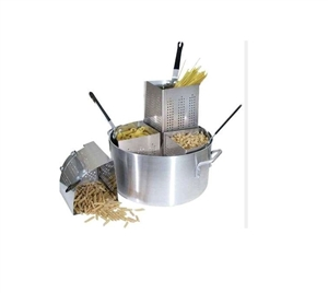 Winco Aluminum Pasta Cooker 20 Qt. with 4 Inset