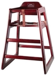 Winco Stacking Hi-Chair Mahagony Non-Assemble