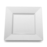 Square Dinner Plate White - 10.75 in.