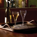 1 Piece Square Wine Glass - 8 oz.