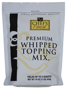 Sugar Foods Chefs Finest Whipped Topping - 16 Oz.