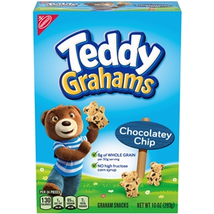 Kraft Nabisco Teddy Graham Chocolate Chip Cookie - 10 Oz.
