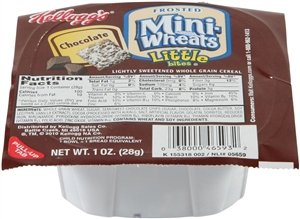 Kelloggs Frosted Mini Wheats Cereal Chocolate Bowl Pak - 1 Oz.