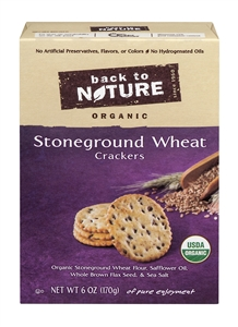 Organic Stone Ground Wheat Crackers - 6 oz.