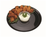 Black Polystyrene 18 in. High Edge Round Serving Tray