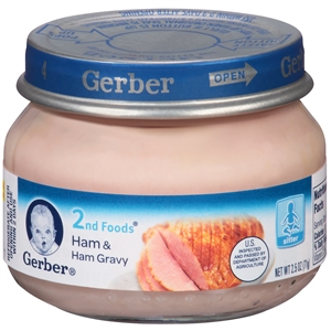 Gerber 2nd Foods Ham Plus Gravy Puree - 2.5 oz.