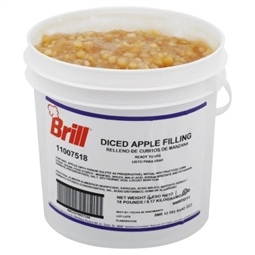 Brill Diced Apple Filling - 18 Lb.