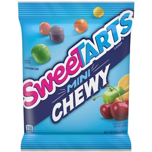 Candy Sweetart Mini Chewy Peg Bag - 6 Oz.