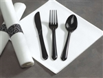 Hoffmaster Caterwrap Heavy Weight Prerolled Napkin Cutlery Black