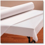 Hoffmaster Paper Roll Table Cover Bright White