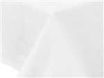 Paper White 2 Ply Tissue 1 Ply Poly Tablecover - 82 in. x 82 in.