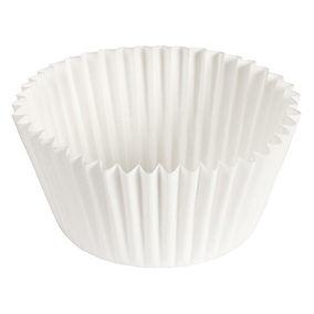 Fluted Baking White Cup Paper - 4.5 in.