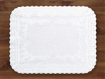 Traymat Scalloped Edge White Paper - 14 in. x 19.13 in.
