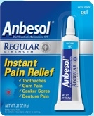 Pfizer Anbesol Regular Strength Mouth Pain Gel - 0.33 Oz.