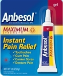 Pfizer Anbesol Maximum Strength Gel - 0.33 Oz.