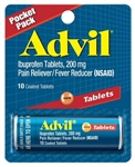 Pfizer Advil 10S Vial Tablet 144 Boxes of 10 Tablets