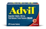 Pfizer Advil 24S Pain Reliever and Fever Reducer Tablet 72 Boxes of 24 Tablets