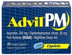 Pfizer Advil PM 20S Caplets 72 Boxes of 20 Tablets