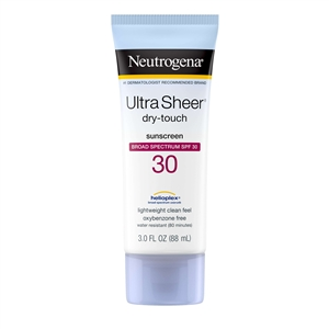 Neutrogena Ultra Sheer Dry Touch Sunblock Lotion Spf 30 - 3 Fl. Oz.