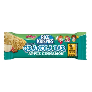 Kelloggs Rice Krispies Chewy Cereal Bar Apple Cinnamon - 1.3 Oz.
