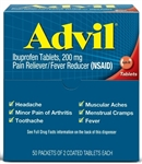 Pfizer Advil Tablet Dispenser Pouch 24 Boxes of 50 Tablets