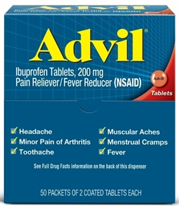 Pfizer Advil Tablet Dispenser Pouch