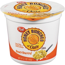 Ralston Post Cereal Honey Bunches Of Oats Honey Roasted Cups 2.1 Oz.