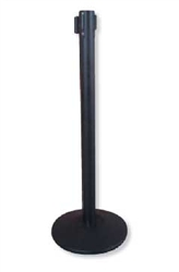 Crowd Control System Black with Retractable Belt - 6.5 Ft.