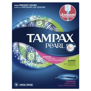 Tampax Pearl Plastic Super Fresh Scent Tampons